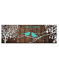 Personal Creations ® Sweet Lovebirds Canvas - 9x27