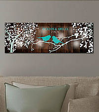 Personal Creations ® TwinkleBright™ LED Sweet Lovebirds Canvas - 9x27