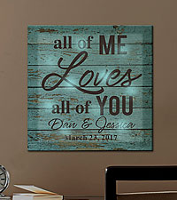 Personal Creations ® TwinkleBright™ LED All of Me Loves All of You Canvas