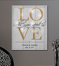 Personal Creations ® TwinkleBright™ LED All You Need Is Love Canvas