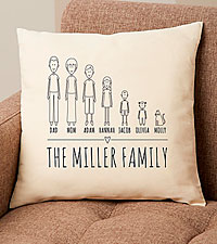 Personal Creations ® Cast of Characters Family Pillow