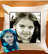 Personal Creations ® Photo Accent Pillow - Plain Border
