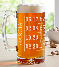Personal Creations ® Fun Family History Oversized Beer Mug