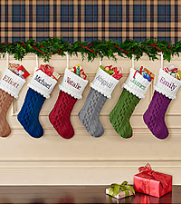 Personal Creations ® Cable Knit Stocking