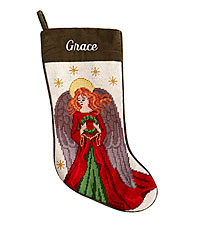 Personal Creations ® Needlepoint Stocking - Angel