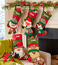 Personal Creations ® Big Face Jingle Bell Stocking
