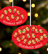 Personal Creations ® Little Deers Oval Ornament