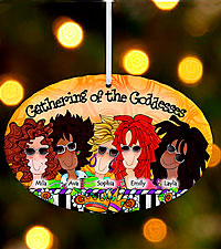 Personal Creations ® Gathering of the Goddesses Oval Ornament