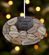 Personal Creations ® Our Family Rocks Ornament