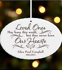 Personal Creations ® Never Leave Our Hearts Ornament
