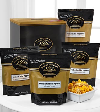 Kernel Fabyan's Gourmet Popcorn Gift Box