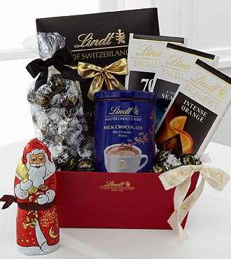 Lindt Holiday Gift Basket - DarkChocolate
