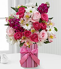 The FTD ® Little Miracle™ Bouquet - Girl - VASE INCLUDED