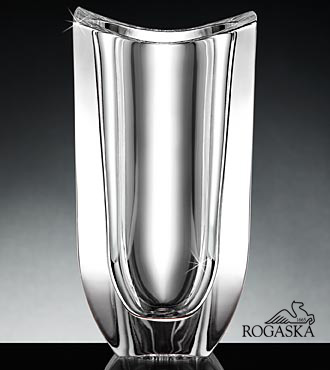 Rogoska Crystal Gondola Vase