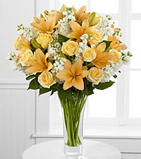 Admiration Luxury Rose & Lily Bouquet - 36 Stems - VASE INCLUDED