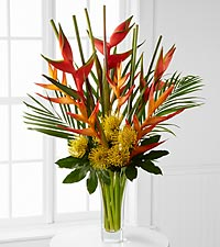 Striking Luxury Tropical Bouquet - 21 Stems - VASE INCLUDED
