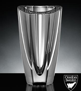Orrefors Crystal Mirror Vase