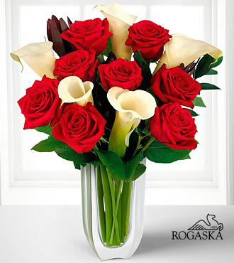 Memorable Moments Bouquet in Rogaska Crystal Gondola Vase - 13 Stems