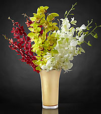 Good as Gold Luxury Orchid Bouquet