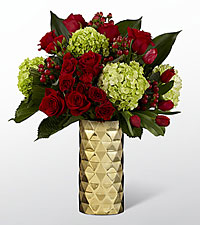 Festive Finesse Holiday Luxury Bouquet - VASE INCLUDED