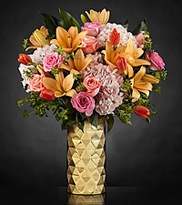 Make It Gold Luxury Bouquet-VASE INCLUDED