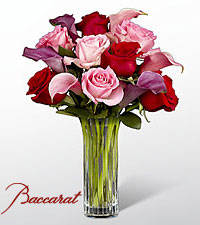 Fuchsia Finesse Bouquet in Baccarat ® Crystal
