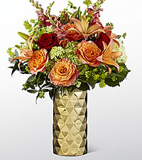 The FTD ® Glow of Gratitude Luxury Bouquet - VASE INCLUDED