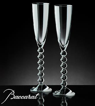 Baccarat&reg; Crystal Vega Flutissimo Champagne Glasses