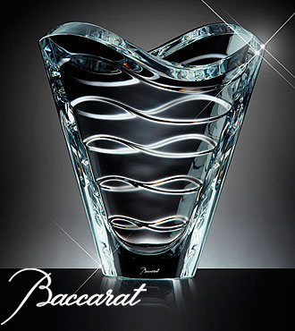 Sku Lx62 Baccarat Crystal Clear Wave Vase From Ftd