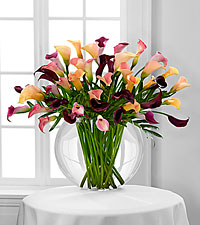 Le bouquet de lys calla Flawless Luxury - 45 tiges - VASE INCLUS