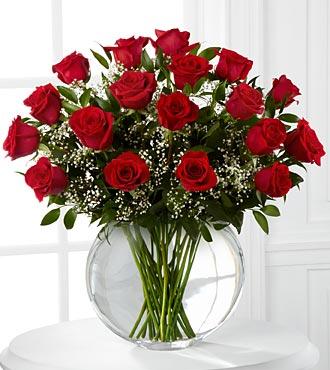 Smitten Luxury Valentine Rose Bouquet - 18 stems of 24-inch Premium Long-Stem Roses - VASE INCLUDED