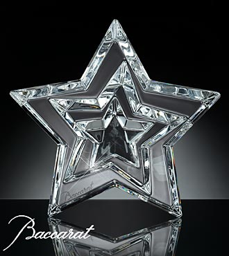 Baccarat® Three Stars Paperweight