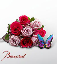 Blooming Insights Bouquet with Baccarat® Blue 'Scarabee' Butterfly