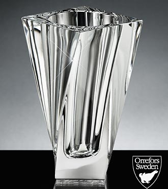 Orrefors Crystal Tornado Vase