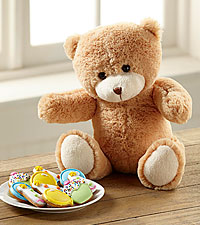 Birthday Hugs Plush Bear with Gourmet Cookies