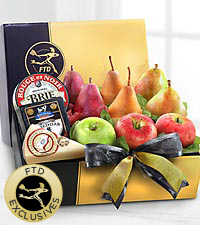 The FTD&reg; Gourmet Fruit & Cheese Gift Box