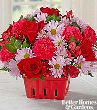 The FTD ® Strawberry Fields Bouquet by Better Homes and Gardens ® - VASE INCLUDED