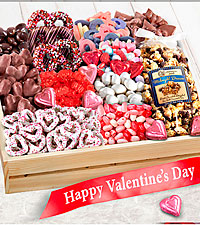 Sweet Them Off Their Feet Valentine 's Gourmet Basket