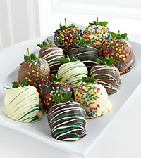 Golden Edibles&#153; Sweet Celebrations Belgian Chocolate Covered Strawberries