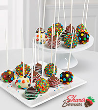 Belgian Chocolate Dipped Birthday -Dipped Cake Pops