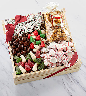 Buy holiday gourmet gift baskets - Holiday Delights Chocolate &amp; Sweets Gourmet Gift Basket