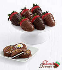 4 Mother 's Day Oreos ® & Belgian Chocolate Strawberries