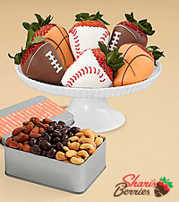 Snack Lover 's Nut Trio & Sports Strawberries