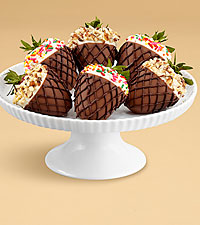 Hand-Dipped Summer Scoop Strawberries