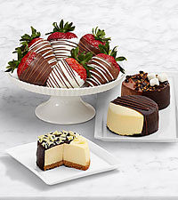 Dipped Cheesecake Trio & Swizzled Strawberries