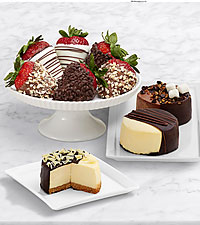 Dipped Cheesecake Trio & Fancy Strawberries