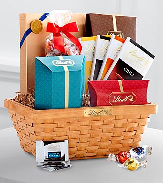 Lindt Favorites Chocolate Gift Basket