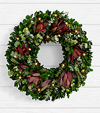 18 inch Thankful for Christmas Wreath