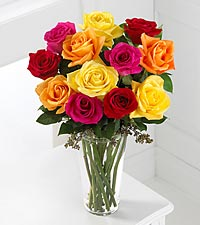 The FTD&reg; Bright Spark&trade; Rose Bouquet