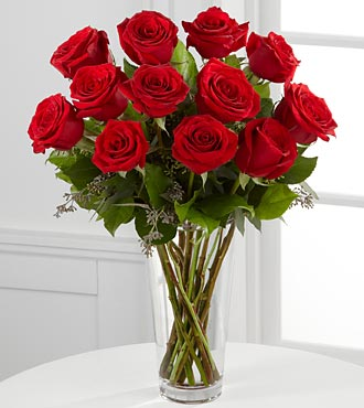 The FTD® Long Stem Red Rose Bouquet with Vase